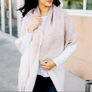 MER-SEA Blush Pink Ombré Cozy Wrap/Scarf